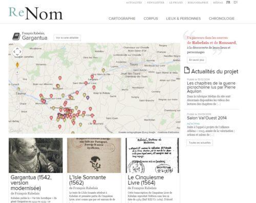 Page d'accueil du site ReNom