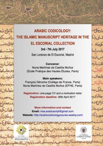2017_ArabicCodicology_affiche