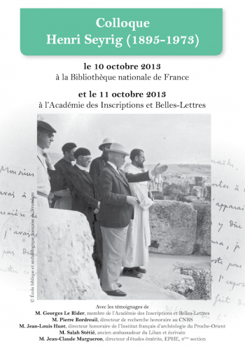 Affiche colloque Seyrig