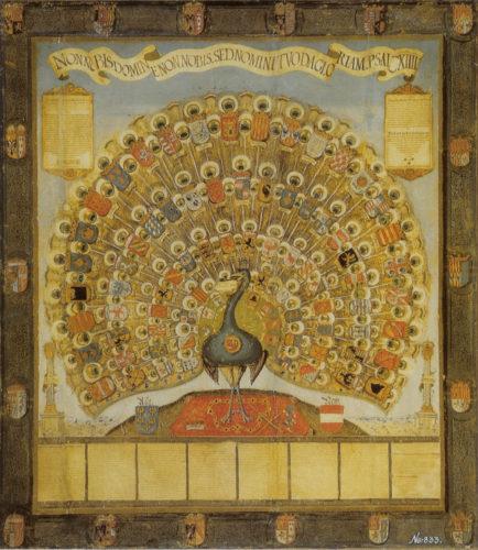 Der Habsburger Pfau von 1555