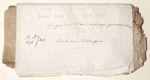Paper sleeve around MS Sanscrit 1868. All images courtesy of the BNF.