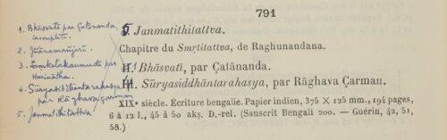 Catalogue sommaire des manuscrits sanscrits