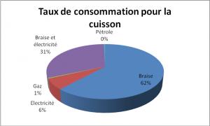 Graphique 1 - Consommation de l'énergie pour la cuisson
