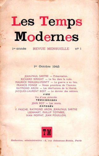 Couverture Les Temps modernes n°1