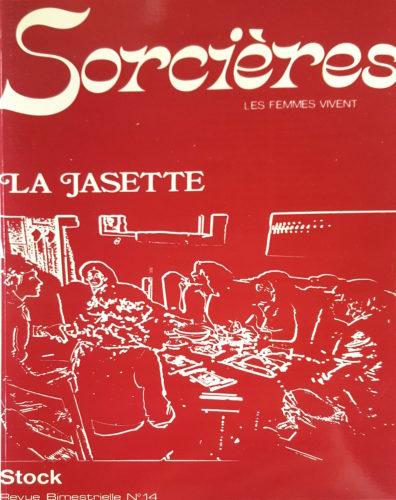 """Couverture Sorcières n°14, """"La Jasette"""", Stock, 1978"""