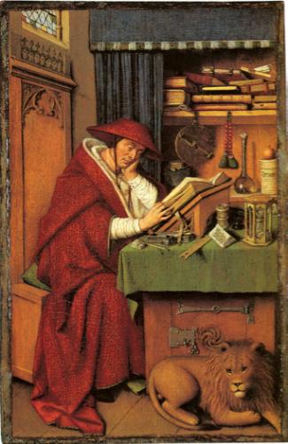 Saint Jérôme peint par Van Eyck