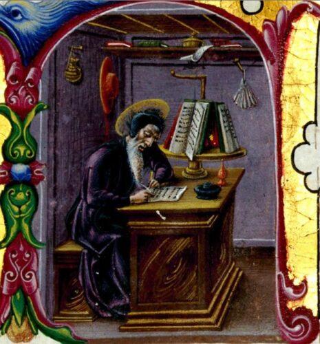 st jérôme, Bibbia di Borso d'Este.