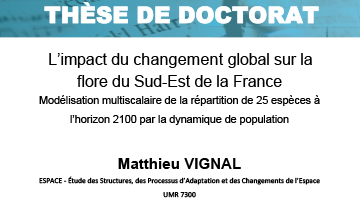 Soutenance de thèse / Matthieu VIGNAL