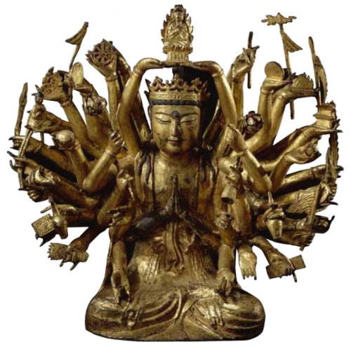 Avalokiteshvara à mille bras, époque Koryo, 10e-11e s., fer © MNAAG, Paris, Dist RMN-GP/ Jean-Yves et Nicolas Dubois