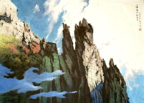 Natures mortes et paysages sont prisés des peintres nord-coréens. Ici, une œuvre de Son U-yong. (Photo Courtesy Fondation Springtime Art)