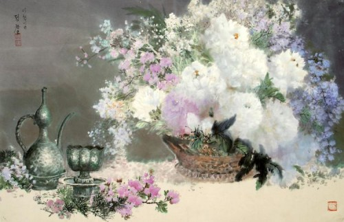 Toile de Jong Chang-mo. Photo Courtesy Fondation Springtime Art