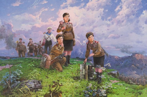 Copyright An Ch'ang-gŏ, a scene from the Korean war, 1991, oil on canvas, collection Ronald Groen