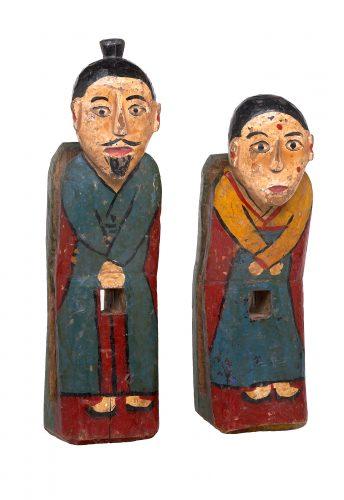 Kokdu-aidant Couple de domestiques Début du XXe siècle Collection Musée du kokdu (Séoul) ©Image Musée du kokdu