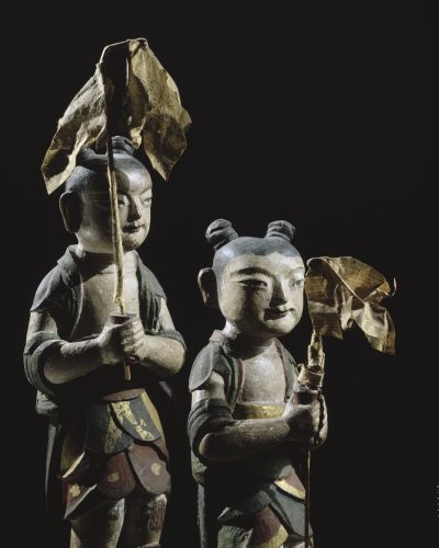 Petits garçons, bois, Corée, 1698. Mission Varat, 1888. Musée national des arts asiatiques – Guimet. © Musée Guimet, Paris, Dist. RMN – Grand Palais) / Jean-Yves et Nicolas Dubois