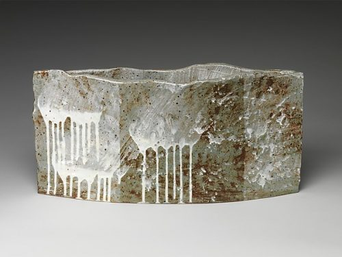 Yoon Kwang-Cho (Korean, born 1946), Chaos 혼돈 混沌 , Stoneware with white slip and ash glaze, 2007, H. 13 1/8 in. (33.3 cm); W. 26 3/8 in. (67 cm); D. 6 1/4 in. (15.9 cm) © Yoon Kwang-Cho.