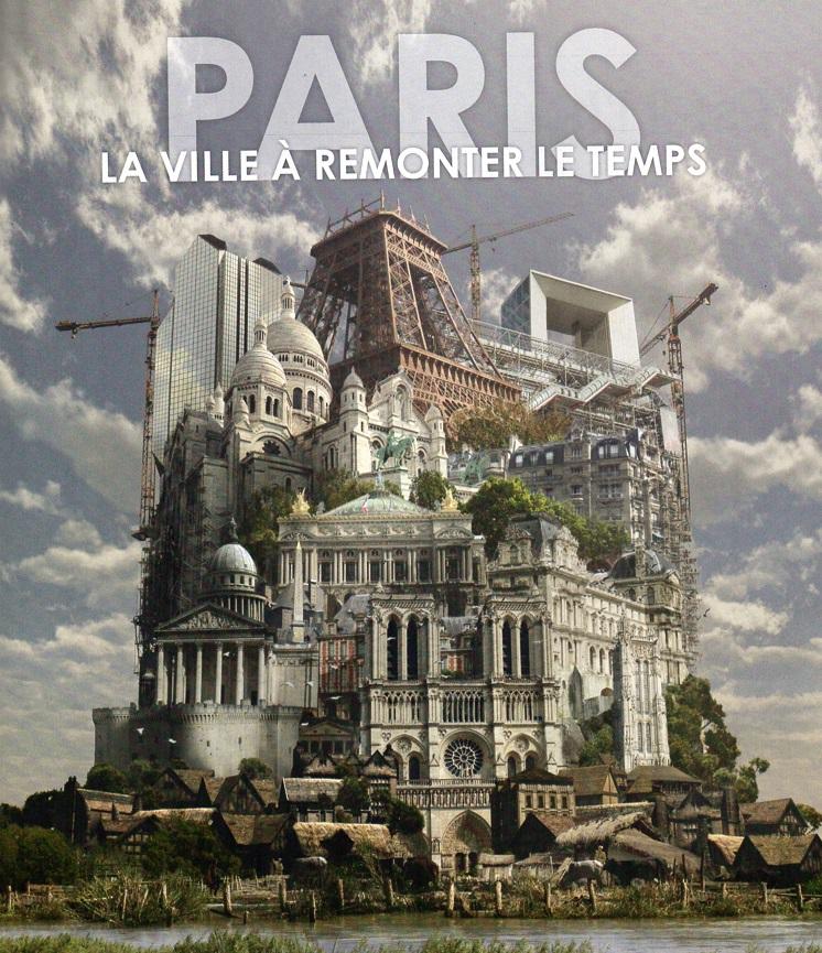 Publicité pour le lancement du projet trans-média de Dassault systèmes sur la restitution infographique de Paris publiée en 2012.