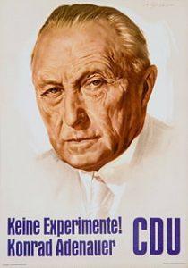 Plakat zu Bundestagswahl 1957
