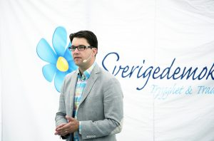 Vorsitzender der Schwedendemokraten Jimmie Åkesson (2013) (CC)