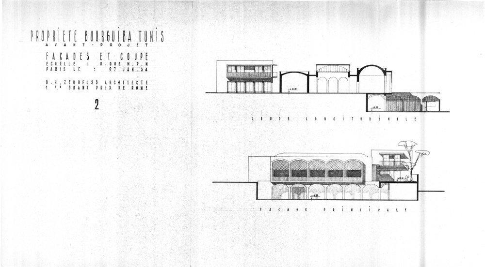 La villa zehrfussienne de bourguiba 1954 1956 le for Architecture tunisienne maison