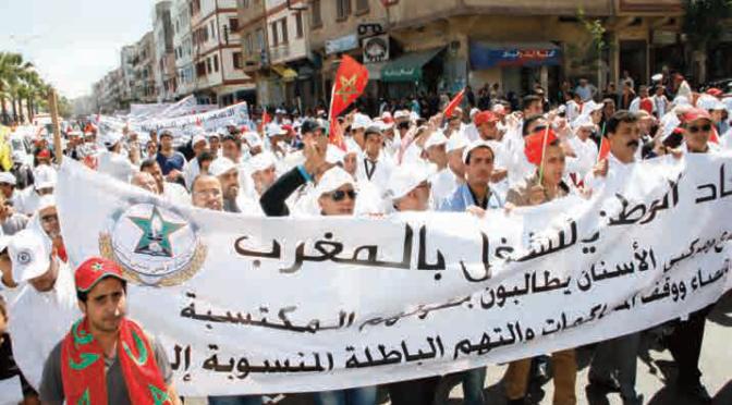 Entre le marteau et l'enclume : Le rôle politique des syndicats ouvriers en Tunisie et au Maroc. Une approche historique et comparative
