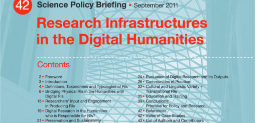 Research Infrastructures in the Digital Humanities cover