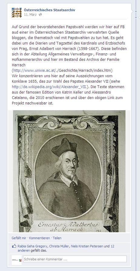 Papst Österreichisches Staatsarchiv
