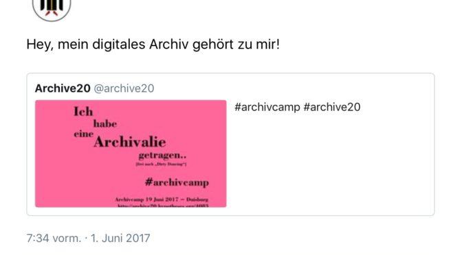 """""""Bis bald in Duisburg"""" – der Endspurt zur Konferenz und zum Archivcamp in digitalen Postkarten"""