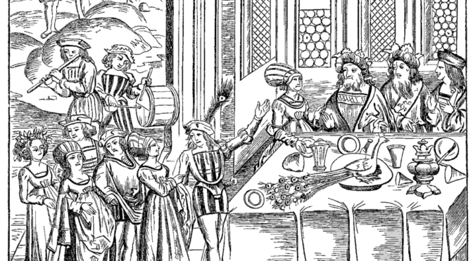 State Banquet Serving the Peacock Fac simile of a Woodcut in an edition of Virgil folio published at Lyons in 1517.png