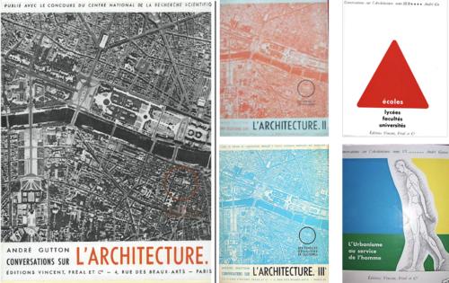 Fig. 1 : Couvertures des 5 tomes des Conversations sur l'architecture.