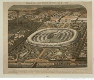 Palais de l'Exposition Universelle de 1867 : [estampe], Mathis J. illustrateur, source Gallica.bnf.fr