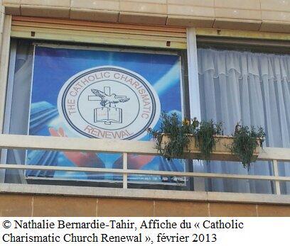 "Affiche du ""Catholic Charismatic Church Renewal"", Nicosie, février 2013"