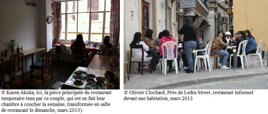 deux photos de restaurants informels dans cette image