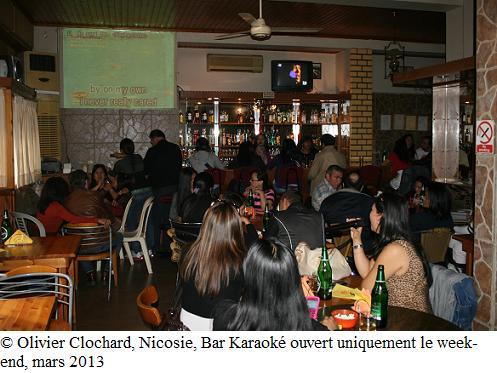Bar Karaoké à Nicosie, ouvert uniquement le dimanche