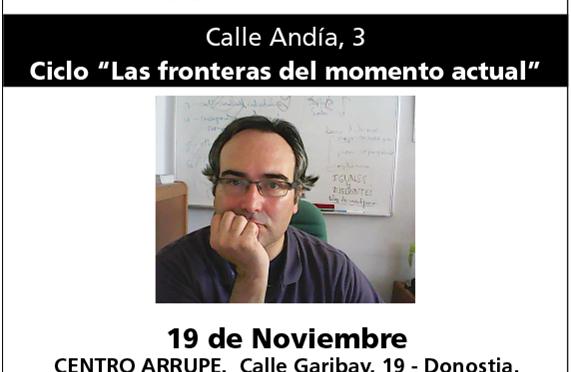 Conferencia Jueves, 19 de noviembre, Donostia