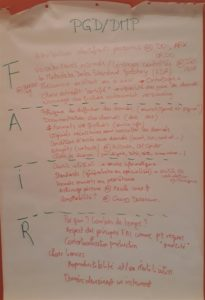 Les points à aborder pour remplir les questions de PGD qui portent sur les principes FAIR.