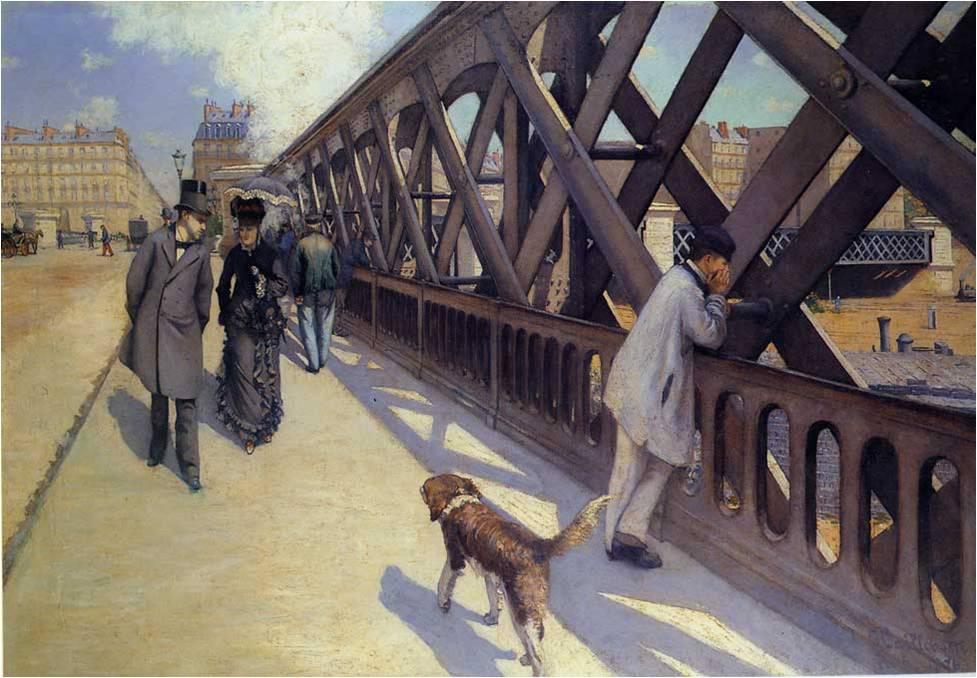 Le Pont de l'Europe, Caillebotte, 1876