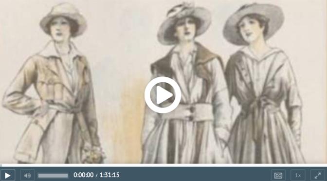 Conférence «La mode en 1917», Université de Poitiers, par MBK & SK