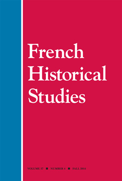CFP: Special issue of French Historical Studies on FASHION HISTORY!