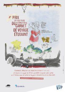 Affiche du 4e Prix du carnet de voyage Etudiant organisé par l'UBP