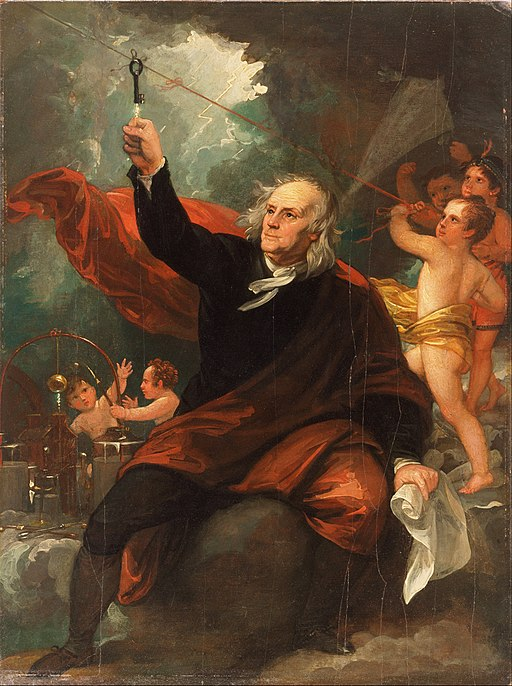 Benjamin West: Benjamin Franklin Drawing Electricity from the Sky