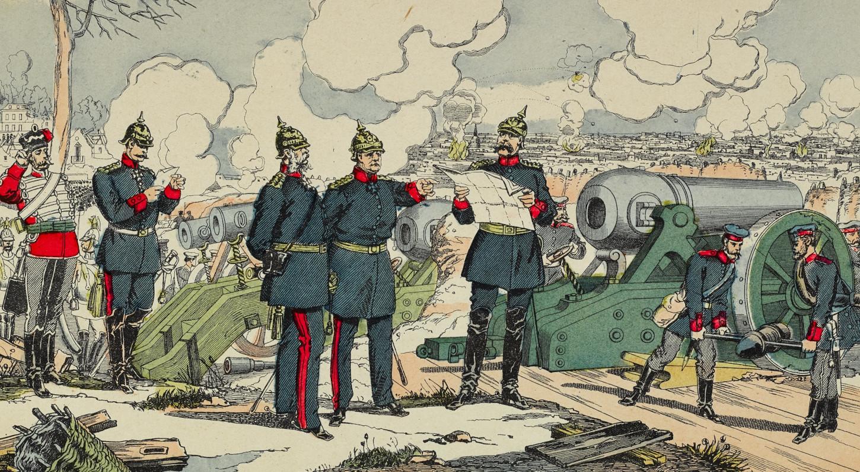 Siège et bombardement de Paris par les Prussiens, image d'Epinal. Musée de Bretagne: 2018.0000.2867.