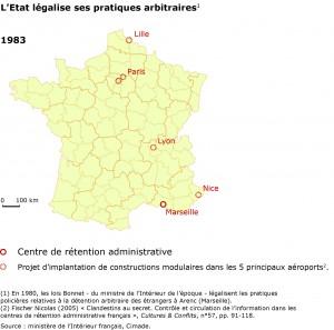 Détention administrative en France en 1983.
