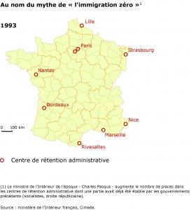 Détention administrative en France en 1993.