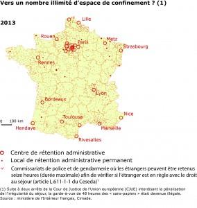 Détention administrative en France en 2013 (1).