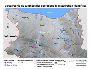 Observatoire des opérations de restauration écologique sur les cours d'eau du Calvados