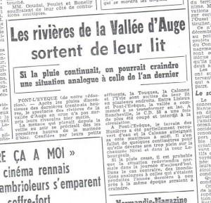 Les cours d'eau et vallées bas-normandes  au fil du temps à travers la presse quotidienne locale (1900-2012)