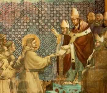 Giotto, François d'Assise présentant sa règle à Innocent III, 1297