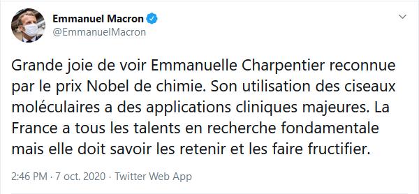 https://twitter.com/EmmanuelMacron/status/1313823056343769088?s=20