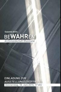 """Titelbild des Ausstellungsflyers """"BeWAHRen"""""""