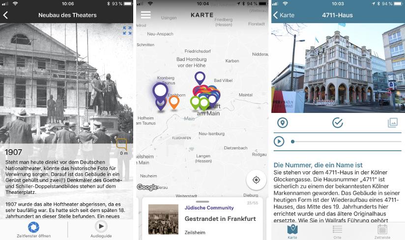 Ansichten unterschiedlicher Apps, Bildrechte: Jens Alvermann, CC BY 4.0